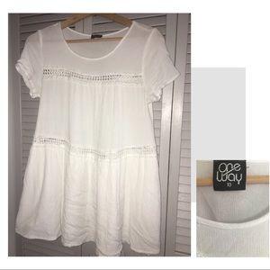 LF 'One Way' Mini sundress/Oversized blouse sz 10
